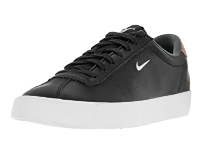 6a53dd75571c Nike Men s Match Classic Suede Black White Vachetta Tan Tennis Shoe 7.5 Men  US