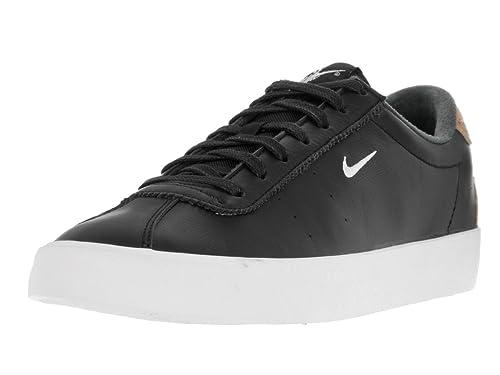 best service 76b18 900f1 Nike Men s Match Classic Suede Black White Vachetta Tan Tennis Shoe 7.5 Men  US
