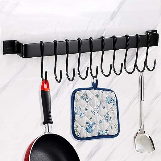 "Handmade Iron 12/"" Hand Towel Hanger S Hook Rack Country Kitchen Pot Mug Holder"