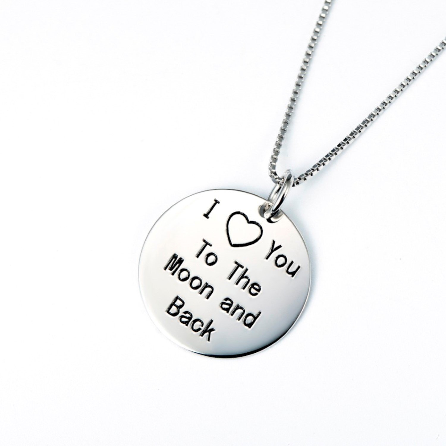 CS-DB I Love You to The Moon and Back Top Stylish Silver Necklaces Pendants