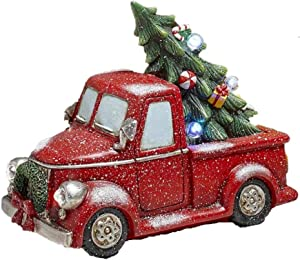The Lakeside Collection Lighted Decorations - Red Pick Up Truck