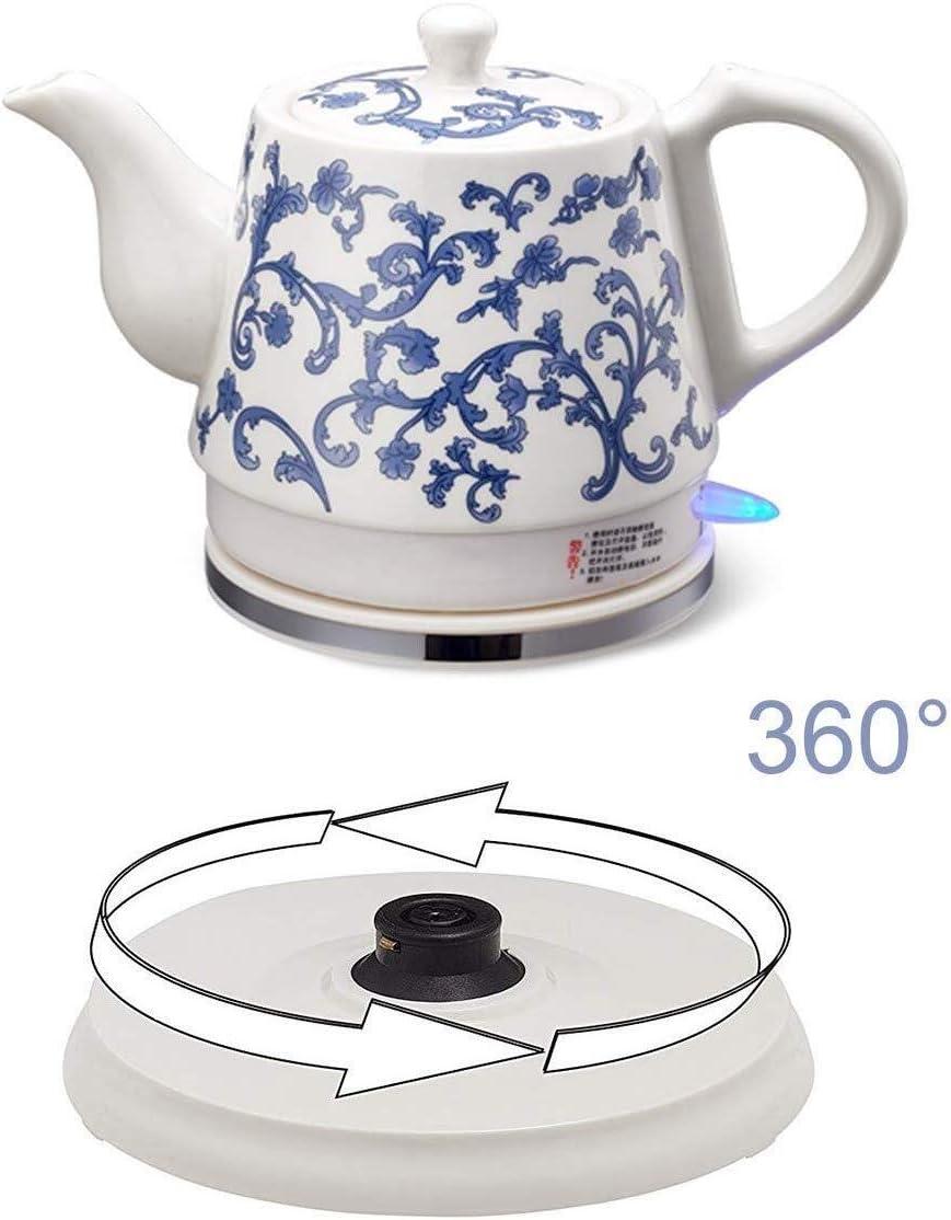 HL-TD-Bollitori Ceramica Bollitore Elettrico Cordless Acqua Teiera, Teiera-Retro 1.2L Brocca, 1000w Riscaldamento (Color : C) C