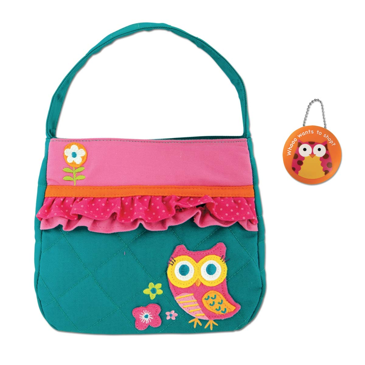Stephen Joseph Quilted Owl Purse with Owl Coin Holder - Little Girls Purses