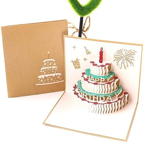 Tarjeta postal de cumpleaños emergente 3D hecha a mano de BC ...