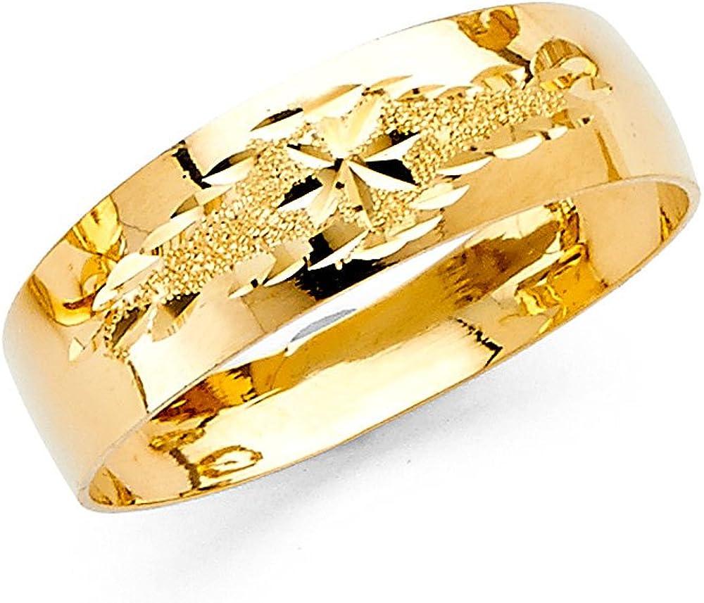 Customized Band Wedding Band High Polished Band Gold Band 14KT Solid Yellow Gold Band Comfortable Band Silver Band 2mm Band