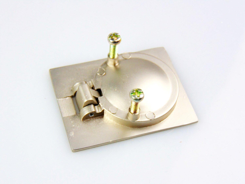 10 St/ück Einbauh/öhe 12 mm Gedotec Design Ringgriff Einlassgriff Lukengriff Ziehgriff Modell LUKE aus Stahl zum Einlassen Edelstahl Finish Ideal als Lukenheber