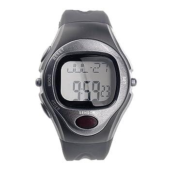 PIXNOR Reloj Deportivo Unisex Sensor Digital de Silicona Pulso Ritmo Cardiaco (gris): Amazon.es: Electrónica
