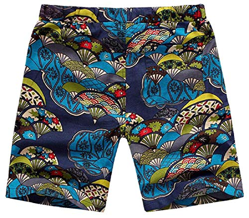 Spiaggia uomo Stampata Pantaloncini Pantaloncini Blu Sport Casual Paolian Estate aq04x05B