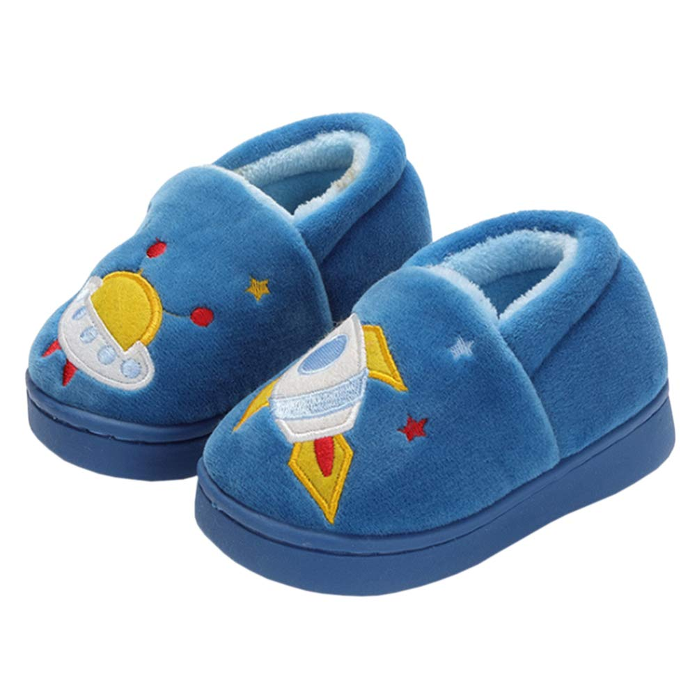 6638100036d18 YOHA Boys Girls Unicorn Cartoon Cozy Warm Home Slippers Anti-Slip Toddler  Slippers Kids Slip on Fuzzy Bedroom Slippers
