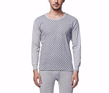 YMFIE Los hombres del otoño y el invierno imprime ropa interior térmica manga larga camisetas pantalones
