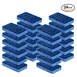 Cleaning Scrub sponge by Scrub-it – Non-Scratch – Scrubbing Dish Sponges Use for Kitchens, Bathroom & More – 24 pack 61kZj45eRHL