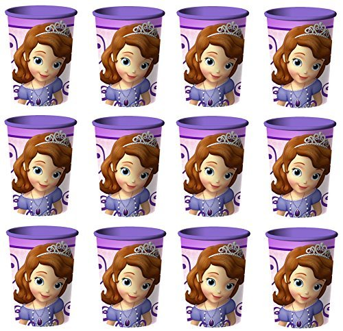 Disney Sofia the First Reusable Cups (12x) ~ Birthday Party Supplies Plastic Favors