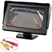 """4.3"""" Car Auto Monitor LCD Screen Dash Mounting Stand, E-Kylin 12-24V Wide Input Universal for Truck Auto 2 RCA Video…"""