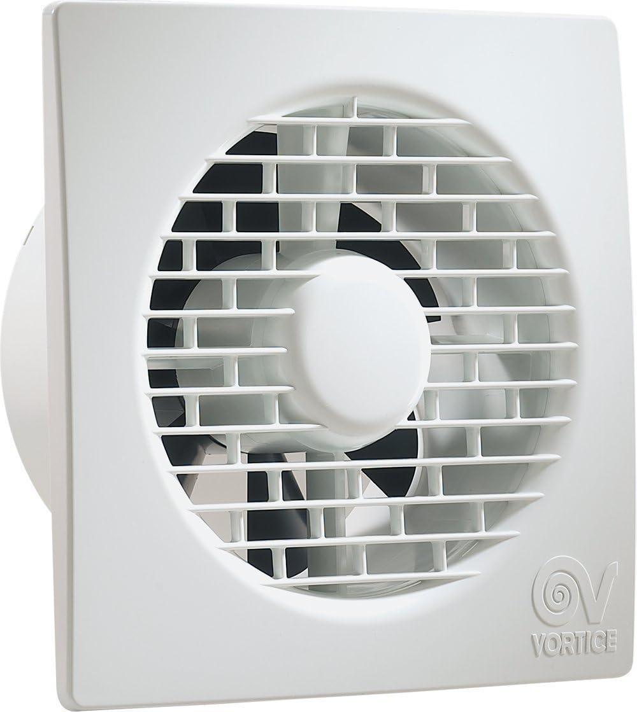 Vortice Aspiradora Helicoidal Ventilador Punto alambre para recambio aire cuarto de baño con Válvula anti retorno 220/240 V 50 Hz - Blanco, 11122 (Diámetro Nominal Conducto 90 mm)