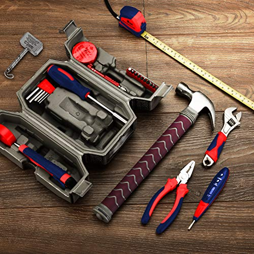 Avengers Marvel Legends Series Mjolnir Hammer Tool Kit, Daily Repair Filled Household Tool Case Pliers ect DIY Repair Kits Multi Tools Thor Hammer Accessories Set