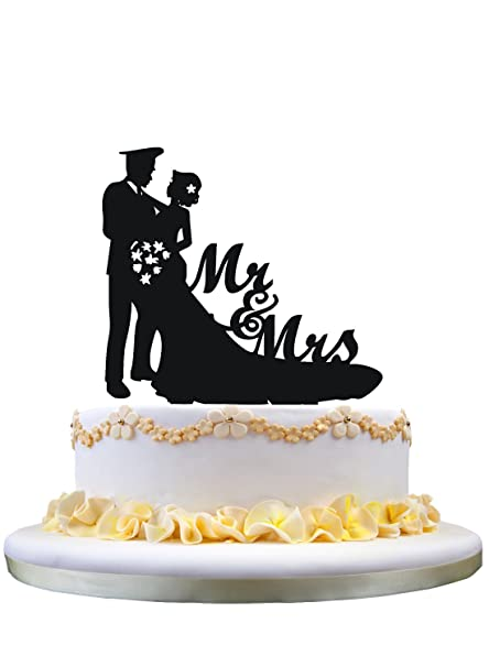 Amazon Com Funny Cake Topper Police Groom Wedding Cake Topper Mr