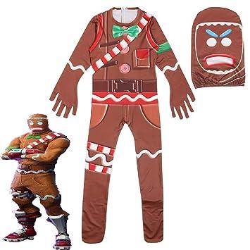 aimdonr costume de bonhomme en pain d epices de noel pour enfant - skin pain depice fortnite fille