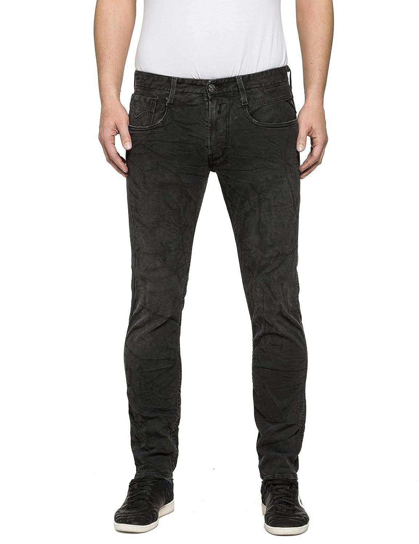 Replay Men's Men's Stretch Jeans In Dark Grey Color