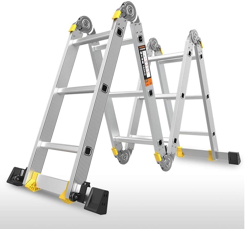 XBZHP Escalera Plegable De Aluminio Extensible con Bisagras De Bloqueo De Seguridad 4 Pliegues, Escalera Extensible (Size : 4 Step): Amazon.es: Hogar