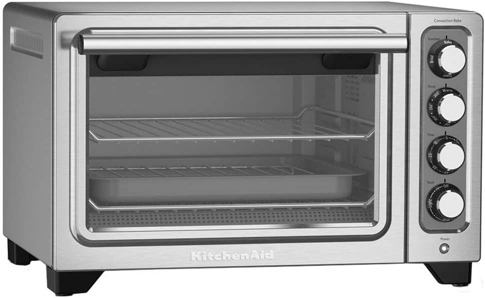 KitchenAid 12-Inch Compact Convection Countertop Oven - Contour Silver KCO253WMCU
