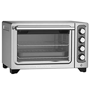 KitchenAid RKCO253SS 12 Inch Counter Top Oven Stainless Steel - (Certified Refurbished) (Renewed)