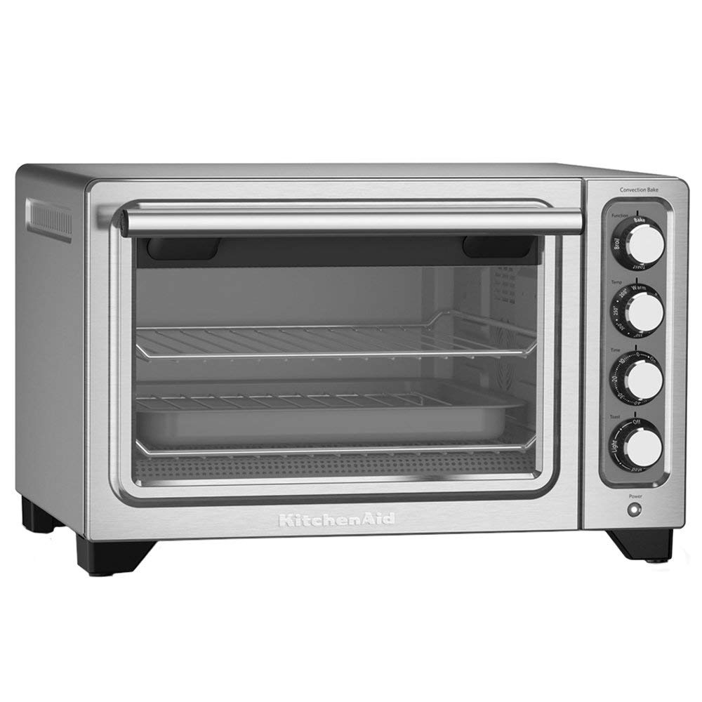 KitchenAid RKCO253SS 12 Inch Counter Top Oven Stainless Steel -  (Renewed)