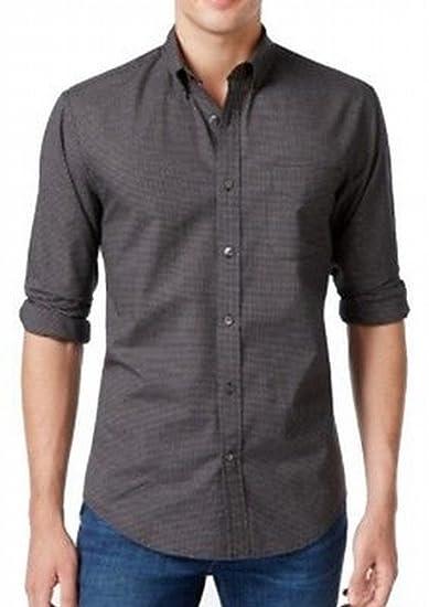 91ac0b330 Tommy Hilfiger Mens Murdoch Grid Button Up Shirt at Amazon Men's ...