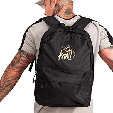 Kings Will Dream | KWD Merrow 3D Gold Logo Backpack - Black Black