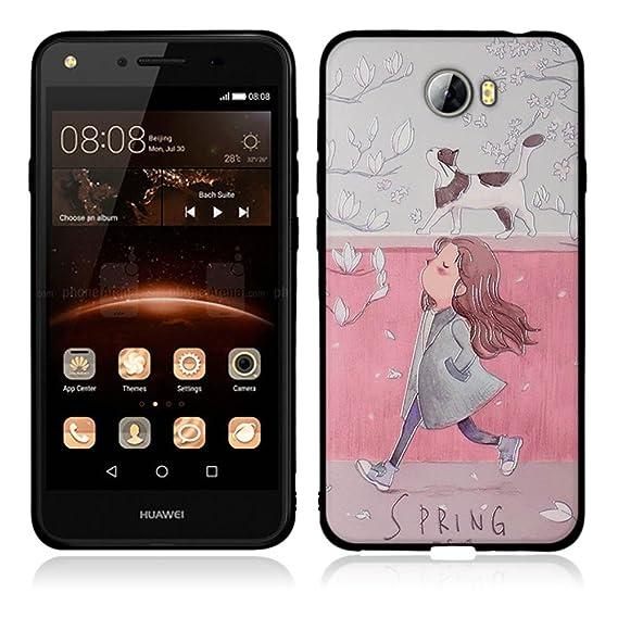 Huawei Y5 II Case, TOMYOU Soft TPU Cover with Shockproof and  Anti-Fingerprint for Huawei Y5 II/Huawei Y5 2