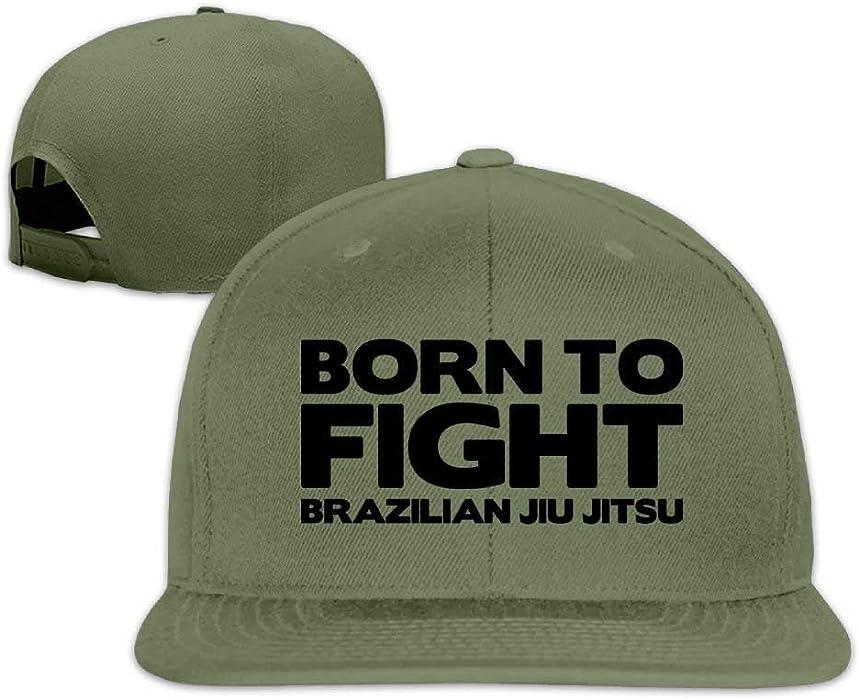 89e9b5c1c0567 Classic Baseball Caps Born to Fight Brazilian Jiu Jitsu Flat Bill Unisex  Adjustable Hat at Amazon Men s Clothing store
