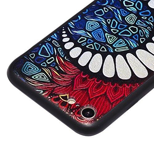 Coque iPhone 8 3D Dents de lune Premium Gel TPU Souple Silicone Protection Housse Arrière Étui Pour Apple iPhone 8 + Deux cadeau