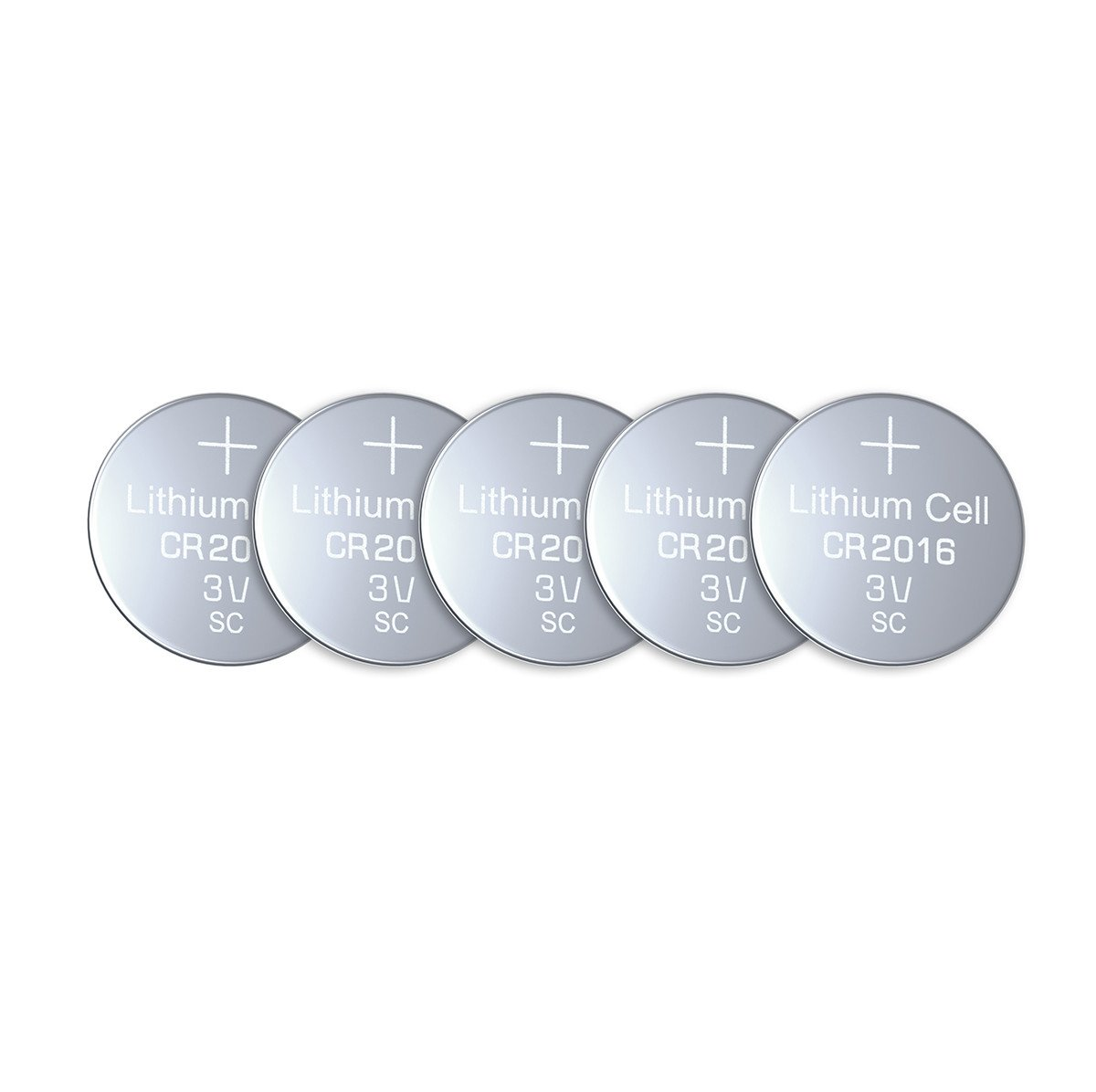 EBL CR2016 Tipo de 2016 / DL2016 / ECR2016 3V Litio Moneda Botón Celula de la Bateria para Reloj, Juguetes Electrónicos (5 Unidades)