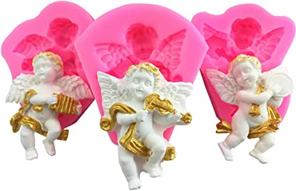 Silicone 3D Angel Baby Wings Fondant Mould Cake Decorating Chocolate Baking Mold