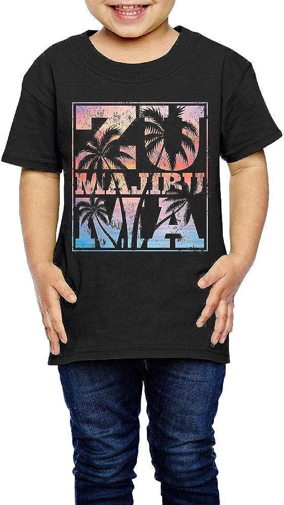 Kcloer24 Girls Boys Malibu Personality T-Shirt Short Sleeve Tee for 2-6 Years Old