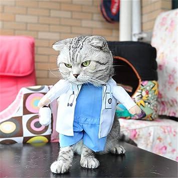 Feidaeu Divertido Gato Perro Ropa Enfermera Traje Traje para Cat Cool Navidad Halloween Traje Mascota Abrigo
