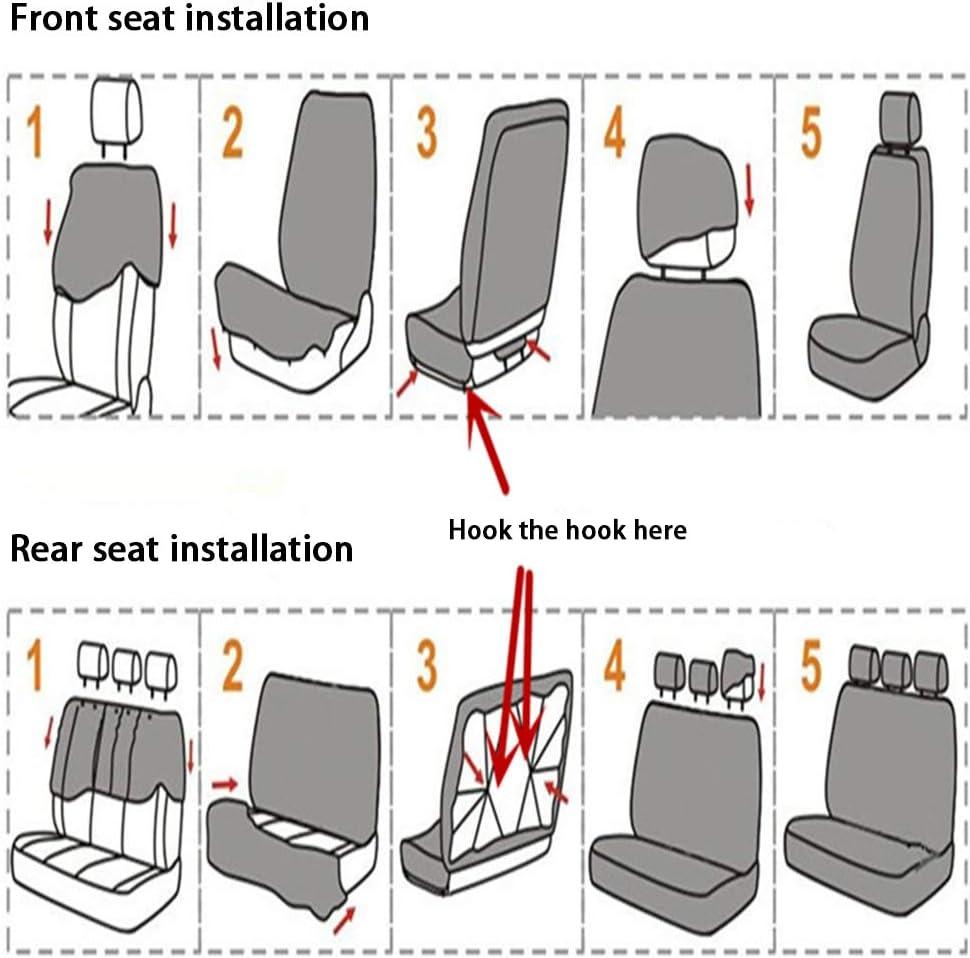 Universeller Autositzbezug Autositzschutz mit Reifenspur Sitzbez/üge f/ür Meisten Autos Autositzbez/üge