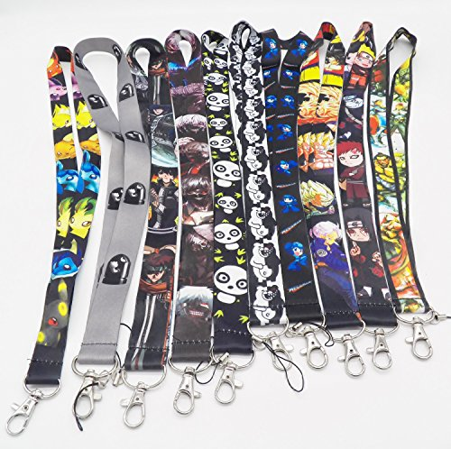 10 Assorted Anime Tokyo Ghoul Street Fighter Phone Key Chain Strap LANYARD Set #62 by Anime