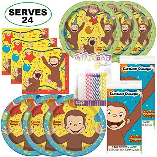 (Curious George Super Bundle Party Supplies, Serves 24)