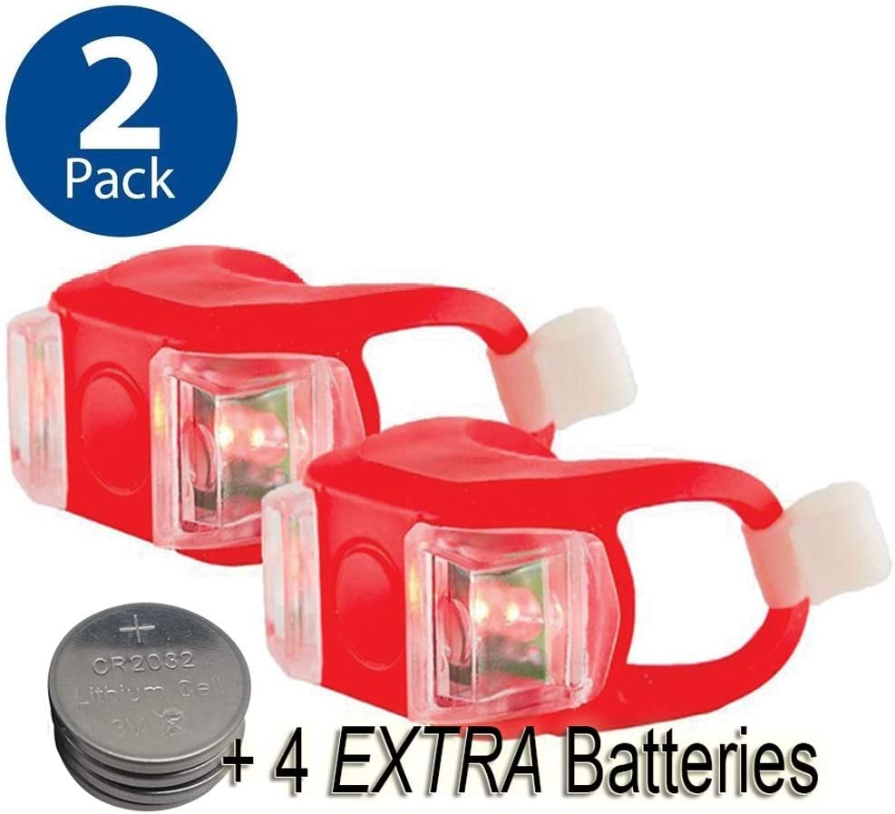 Bright Eyes Silicone Bike Tail Light Rear Safety LED Lights Red