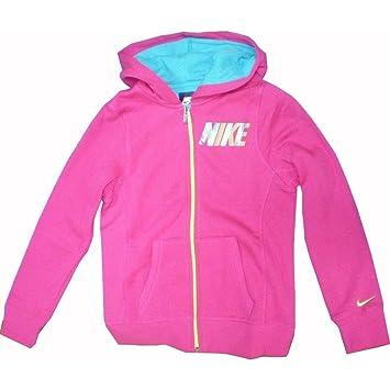 Nike YA76 GFX Glam BF FZ Hoody YTH - Sudadera para niña, color rosa/azul / blanco, talla L: Amazon.es: Zapatos y complementos