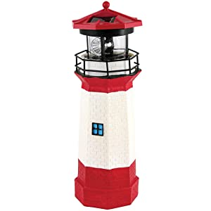 Jumbl Solar Lighthouse with Rotating Lamp