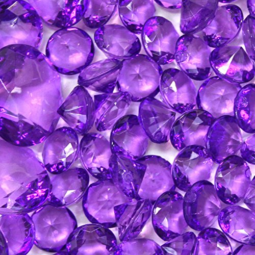 glass gems vase fillers purple - 8