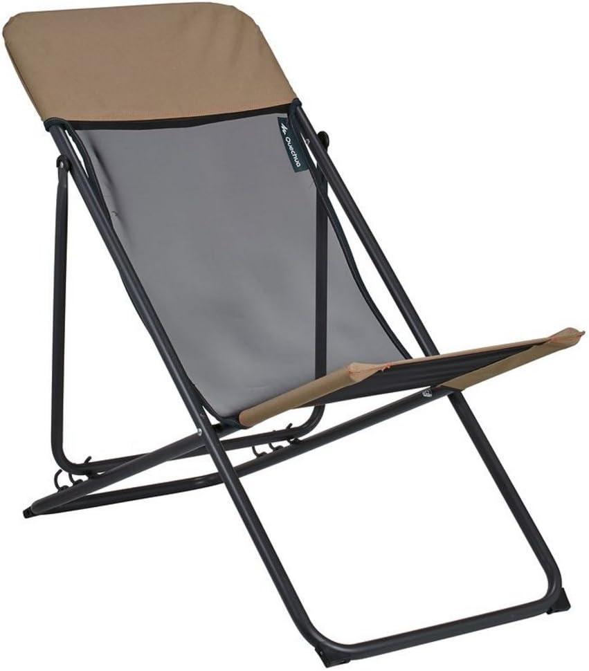 Decathlon quechua Relax Chaise de camping Marron: Amazon.fr