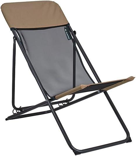 DECATHLON QUECHUA relajarse silla de CAMPING marrón: Amazon ...