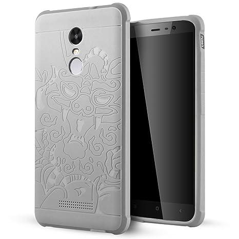 Xiaomi Redmi Note 3 Funda,Lizimandu Protectiva Carcasa de Silicona de gel TPU Transparente, Ultra delgada, Resistente a los arañazos en su parte ...