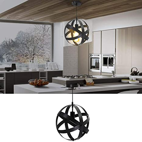 Industrial Pendent Light Fixture Kitchen Island Vintage Metal Pendant Lights Spherical Lights Hanging Global Lighting  sc 1 st  Amazon.com & Amazon.com: Industrial Pendent Light Fixture Kitchen Island Vintage ...