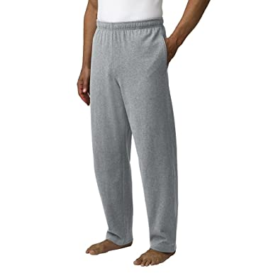 41a28835d15718 Lands' End Men's Regular Jersey Knit Pants, M, Gray Heather at ...