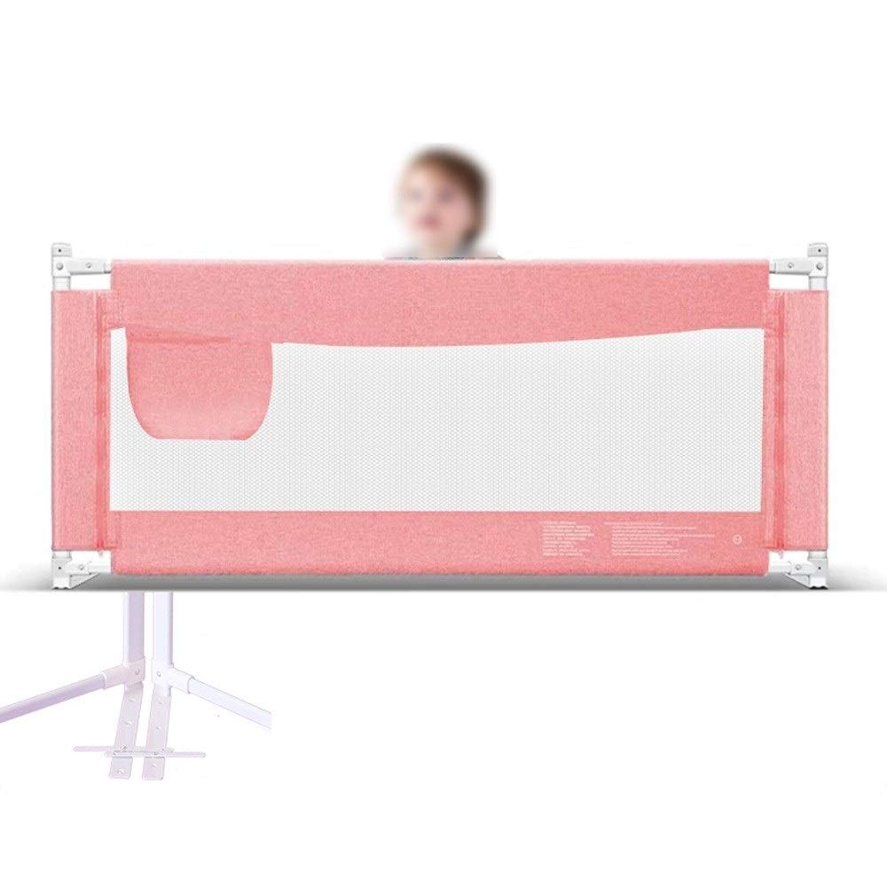 ZZ Bed Guard Bed Rail for Toddlers, Single Child Safety Bed Guard Folding Infant Baby Bedrail Protection Guards - (1.2/1.5/1.8/2.0/2.2m) Gray Green Pink Bed Rails (Color : Pink, Size : 1.2m) by GYY Bed Guard