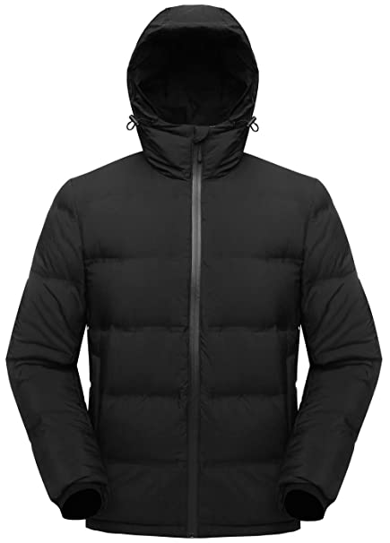 2d6d1580c Valuker Men's Seamless Down Jacket Hooded Coat Parka Plus Size 28 ...