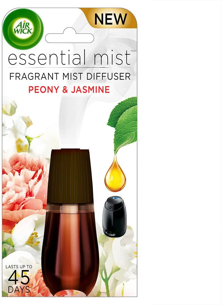 Air Wick Essential Oils Diffuser Mist Refill, Peony & Jasmine, 1ct, Air Freshener
